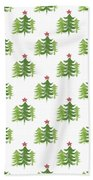 Winter Holiday Trees 2- Art By Linda Woods Bath Towel