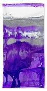 Winter In Purple And Silver Bath Towel