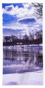 Winter In The Park Hand Towel