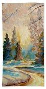 Winter Landscape Knowlton Quebec Bath Towel