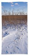 Winter On The Prairie Bath Towel