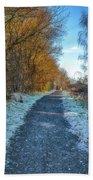 Winter Path In Scotland Bath Towel