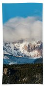 Winter Receding On Pikes Peak Bath Towel
