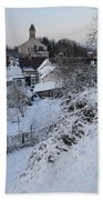 Winter Scene In North Wales Bath Towel