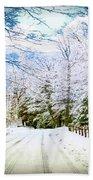 Winter Scene Bath Towel