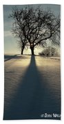 Winter Silhouette Hand Towel