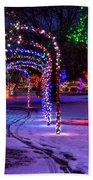 Winter Spirit At Locomotive Park Bath Towel