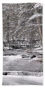 Winter Stream And Woods Bath Towel