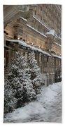 Winter Stroll In Helsinki Bath Towel