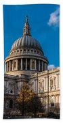 Winter Sun St Paul's Cathedral Bath Towel