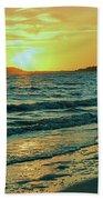 Winter Sunset At Wellfleet Harbor Bath Towel