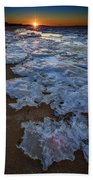 Winter Sunset On Fire Island Bath Towel