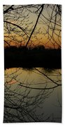 Winter Sunset Reflection Bath Towel