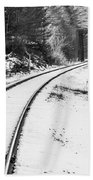 Winter Tracks Bath Towel