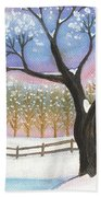 Winter Tree Landscape Bath Towel