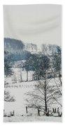 Winter Trees Solitude Landscape Bath Towel