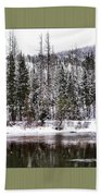 Winter Trees Bath Towel