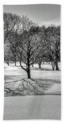 Winter Trees Bath Towel