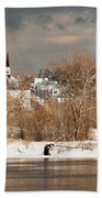 Winter View Of Allenstown Hand Towel
