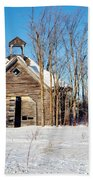 Winter Wisconsin Barn Bath Towel