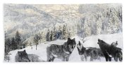Winter Wolves Hand Towel