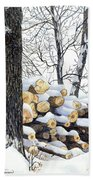 Winter Wood Bath Towel