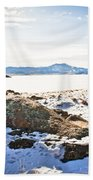 Winter's Silence - Pathfinder Reservoir - Wyoming Bath Towel