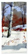 Wintertime Painting Bath Towel