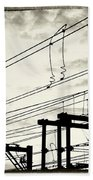 Wires And Coils Silhouette Hand Towel
