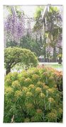 Wisteria In Hailstorm Bath Towel