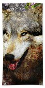 Wolf Art Version 8 Bath Towel