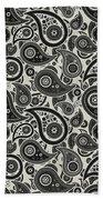 Wolf Gray Paisley Design Bath Towel