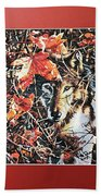 Wolf Hiding In Branches Bath Towel