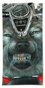 Wolf Motorcycle Gas Tank Bath Towel