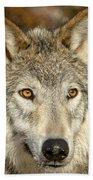 Wolf Portrait Bath Towel