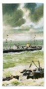 Wolf Rock Lighthouse At Land's End Bath Towel
