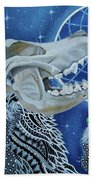 Wolf Skull Bath Towel