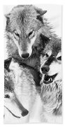 Wolf Triplets Bath Towel