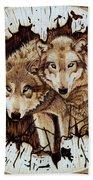 Wolves In Hiding Bath Towel
