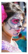 Woman Beautiful Day Of The Dead  Bath Towel