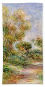 Woman In A Landscape Bath Towel