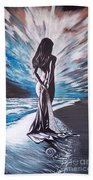 Woman In The Moonlight Bath Towel