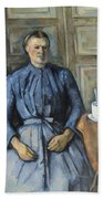 Woman With A Coffeepot  Hand Towel