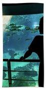 Woman With Leopard Shark Bath Towel