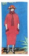 Womens Fashion, George Barbier, 1921 Bath Towel