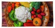 Wonderful Fresh Vegetables Hand Towel