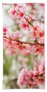 Wonderful Pink Cherry Blossoms At Floriade Bath Towel
