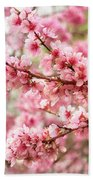 Wonderfully Delicate Pink Cherry Blossoms At Canberra's Floriade Bath Towel