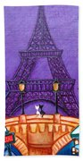 Wonders Of Paris Bath Towel