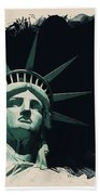 Wonders Of The Worlds - Lady Liberty Of New York 2 Bath Towel
